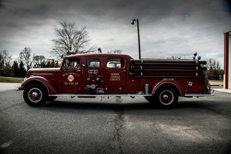 1948 Mack Truck : Engine mack door is the second truck ever